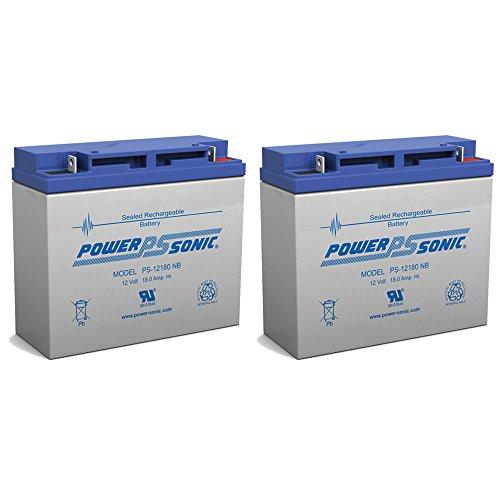 12V 18AH SLA AGM Sealed Lead Acid Emergency Lighting Alarm UPS Battery - 2 Pack