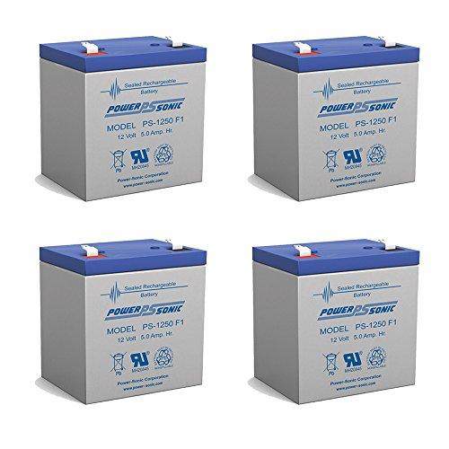 UB1250 12V 5Ah Garden Leaf Blower SLA AGM Battery - 4 Pack