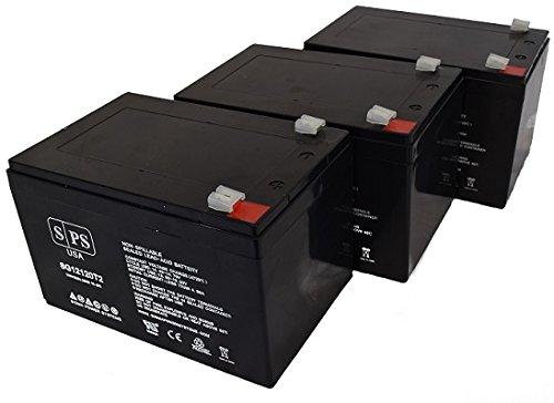 Replacement Battery Razor 15128190 MX500 MX 500 Dirt Rocket 12V 12Ah Scooter Battery SPS Brand  - 3 Pack