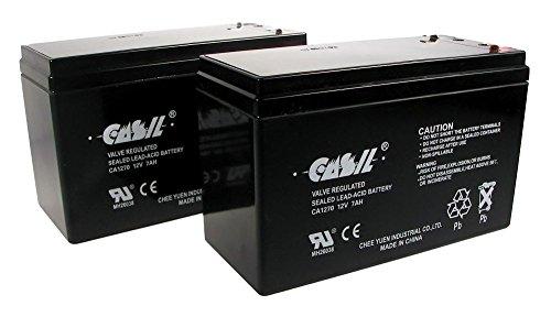 2 CASIL 12V 7AH CA1270 Scooter Bike Battery Replaces 7Ah OD 6-DW-7 MK ES7-1