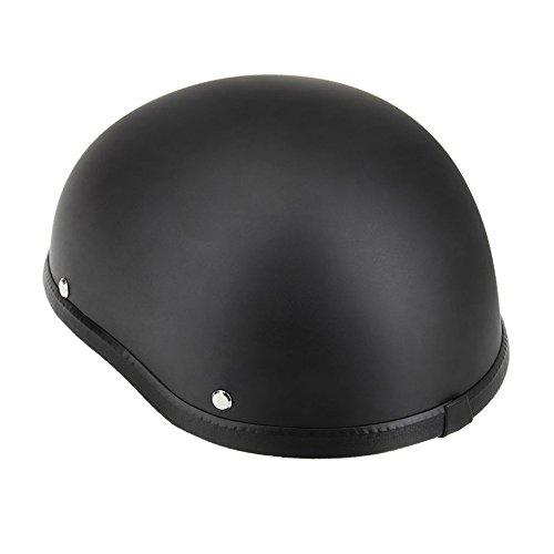 KKmoon Motorcycle Half Open Face Helmet Matt Black Protection Shell Helmet for Scooter Bike