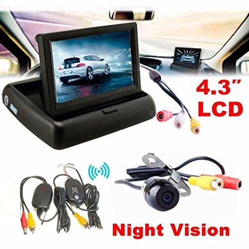 NOMENI 43 Car Rear View Monitor Wireless Car Backup Camera Parking System Kit