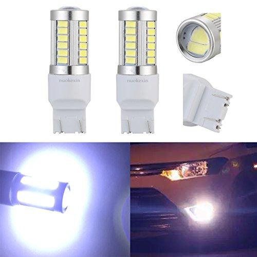 Nuokexin 2PcsLot T20 W215W 7443 33 LED 5630 SMD Car Auto Rear Lights Reverse Lights Parking Lights DC 12V