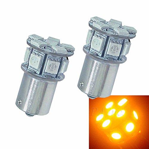 PA 2x 13SMD 5050 LED AUTO Rear Signal Light Bulbs Amber color BaU15s 1156