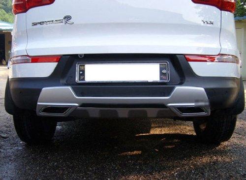 SamWon Auto Rear Tuning Dual Diffuser Bumper Pad 1-pc Set For 2011 2012 2013 2014 Kia Sportage