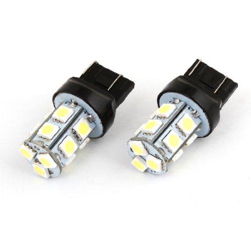 uxcell 12V 7443 13 5050 SMD LED Auto Rear Brake Warning Signal Light White