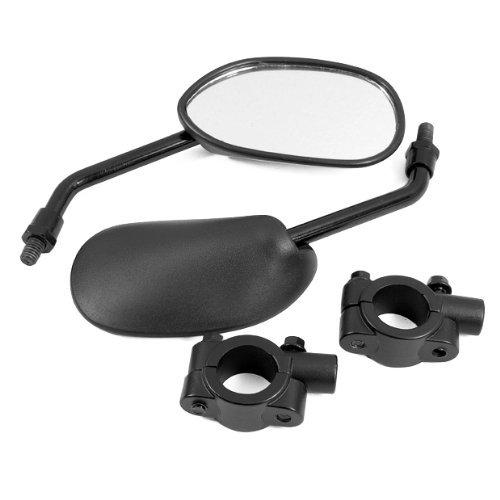 DLLL Black Retro Style Side Rearview Mirror w 78 Handlebar Mount 8mm Adaptor for Mountain Bike BMX Bicycle Motorcycle Dirt Bike ATV Cruiser Chopper
