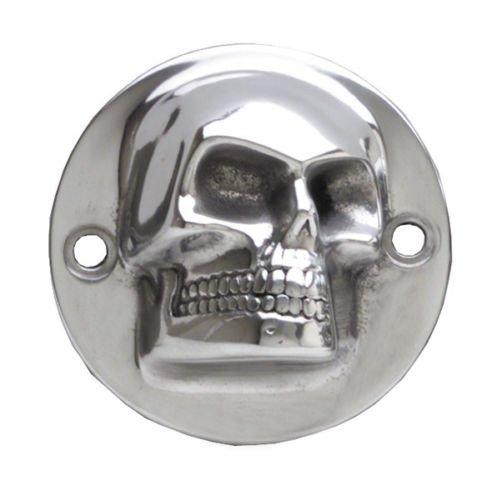 Harley 3D High Polished Skull ignition system cover