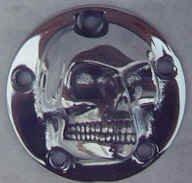 Harley Harley 3D High Polished Skull ignition system cover 5-Hole