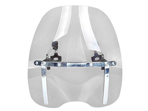 Motorcycle Clear Windscreen Windshield for Harley Davidson Honda Kawasaki Suzuki Yamaha with Chrome Standard Hardware