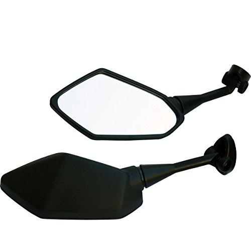 Black Motorcycle Rear View Mirrors For Sport Bike 2014 Yamaha FZ6R