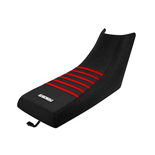 Enjoy MFG 1987 - 2006 Yamaha Banshee All Black  Red Ribs Seat Cover ATV