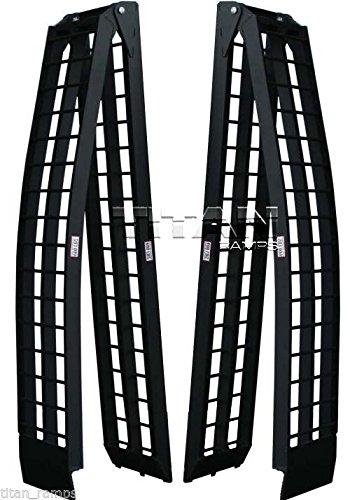 9 Black Aluminum Folding Dual Off-Road ATV Loading Ramps