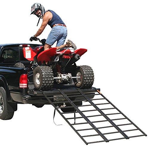 Rage Powersports ST-TF-7449 Steel Tri-Fold ATV Loading Ramp 74 Portable