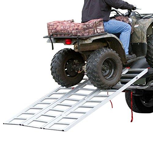 Rage Powersports TF-7754 Full Width Tri-Fold Aluminum ATV Loading Ramp 77 x 54