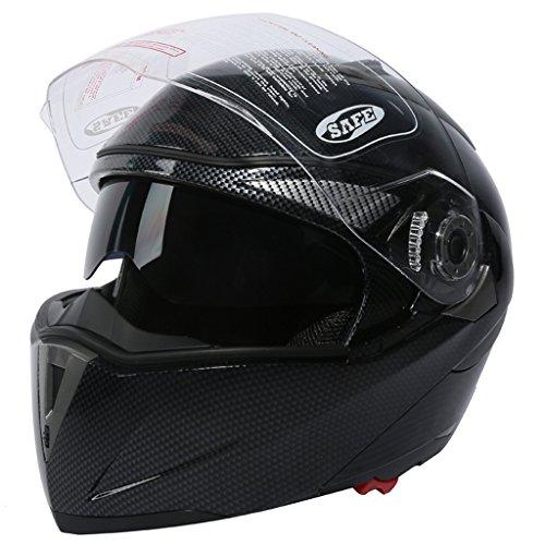 XFMT Dot Carbon Modular Dual-Visor Flip Up Sun Motorcycle Full Face Helmet S