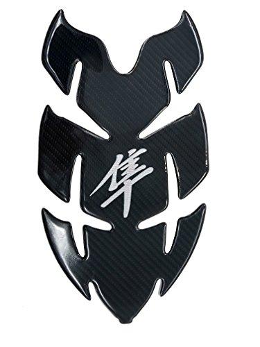 Horn Shape Chrome Real Carbon Fiber 3D Sticker Vinyl Decal Emblem Protection Gas Tank Pad For Suzuki GSXR1300 HAYABUSA Series