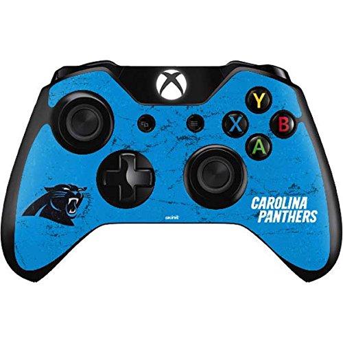 NFL Carolina Panthers Xbox One Controller Skin - Carolina Panthers Distressed Alternate Vinyl Decal Skin For Your Xbox One Controller