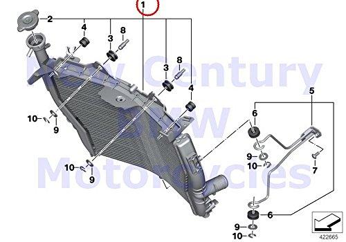 BMW Genuine Motorcycle Engine Cooling Radiator Radiator HP4 S1000RR