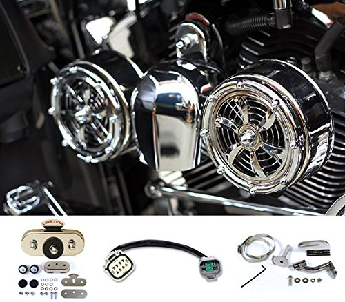 Love Jugs Bullets Chrome with Vibration Master Water Cool Frame Mount Kit and ADT V-Twin Engine Cooling System for 2014-2016 Water Cooled Harley Touring Motorcycles