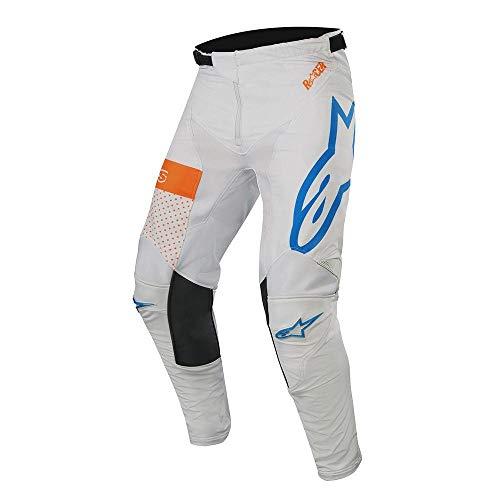 Alpine Stars Racer Tech Atomic Pants MX Pants 30 inch Cool Gray Mid Blue Orange Fluo