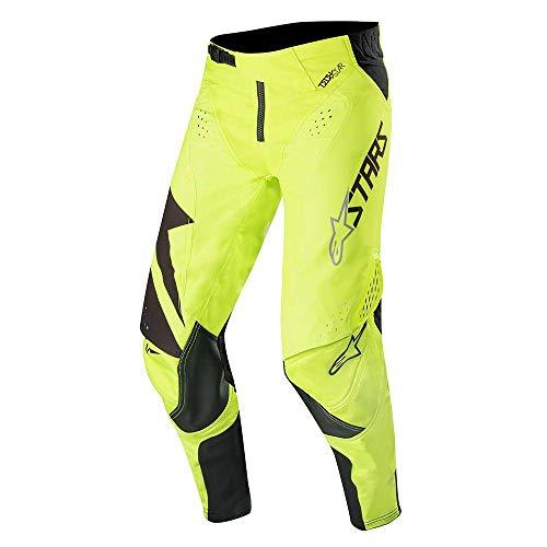 Alpine Stars Techstar Factory Pants MX Pants 34 inch Black Yellow Fluo
