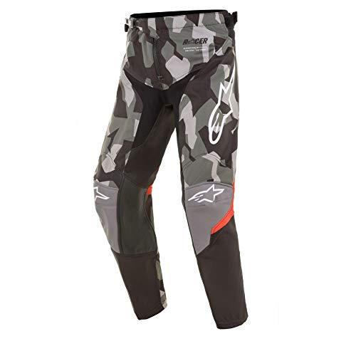 Alpinestars Youth Racer Limited Edition Magneto Boys MX Pants 28 inch Black Grey Camo Orange