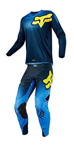 Fox Racing 2018 360 Viza Combo Jersey Pants Adult Mens MX ATV Offroad Dirtbike Motocross Riding Gear Blue