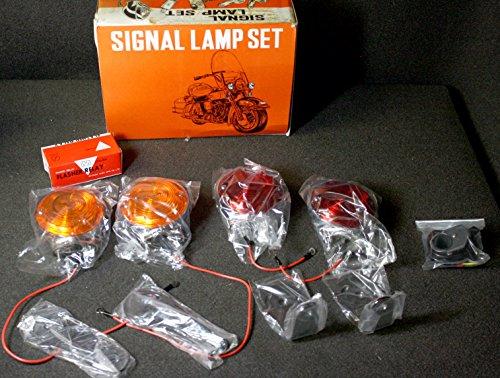 6V Motorcycle Turn Signal Kit 2 Red 2 Amber 4 Mounts Switch Flasher Unit HD6V