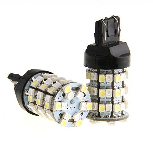 POSSBAY 2Pcs T20 T25 7443 60SMD Car Auto Turn Signal Parking Brake LED Light Bulbs