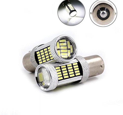 RCJ Car LED Bulbs 1156 Ba15s 4014 92 SMD for Auto Turn Signal Brake Rear Backup Reverse Lights Lamps White Pack of 2