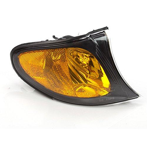 CarPartsDepot 02-05 BMW 325i Park Turn Signal Lamp BM2521109 Black Housing 330 E46 Sedan Right
