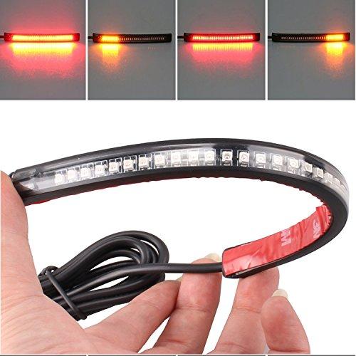 LED Brake Light Strip Strip 8 Tail Stop Turn Signal Lamp With 32 LEDs Flexible For Universal Motorcycle Harley Honda Yamaha
