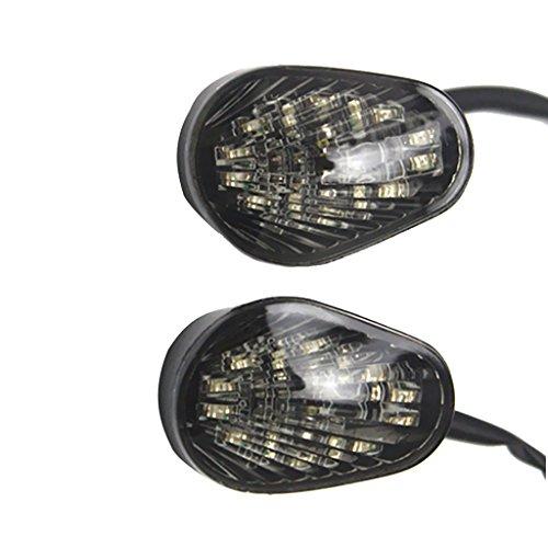 MagiDeal Motorcycle Amber LED Turn Light Lamp Blinker for Yamaha YZF R1 R6 R6S