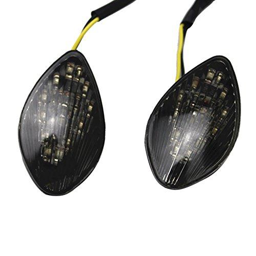 MonkeyJack 1 Pair LED Turn Light Blinker Lamp Smoked Lens Wear Resistant for Honda 1000RR 2004-2005