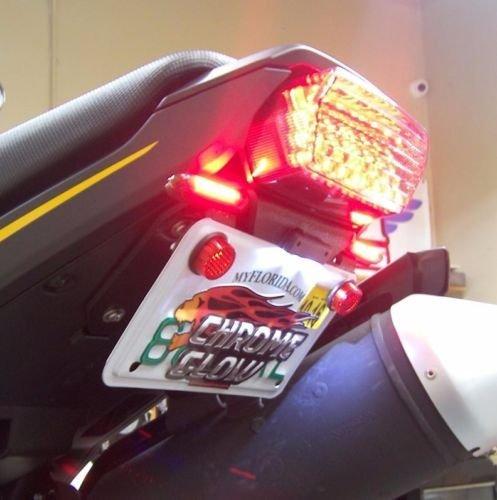 Honda Grom MSX125 SS LED Fender Eliminator Kit with LED Flasher Relay - Red Turn Signals Clear Lens