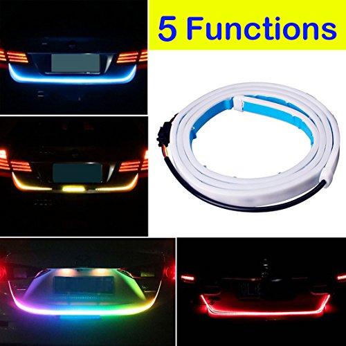 Botepon 60 Universal 5 Functions Car LED Tail Strip Light Tailgate Rear Lights Bar Strip 12V for Running Light Turn Signal Light Brake Light Reverse Light Double Flash Light