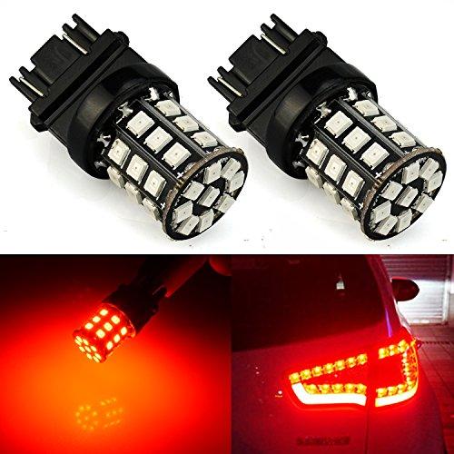 JDM ASTAR AX-2835 Chipsets 3056 3156 3057 3157 LED Bulbs For Brake Light Tail lights Turn Signal Brilliant Red  Only work for standard socket  not for ck socket