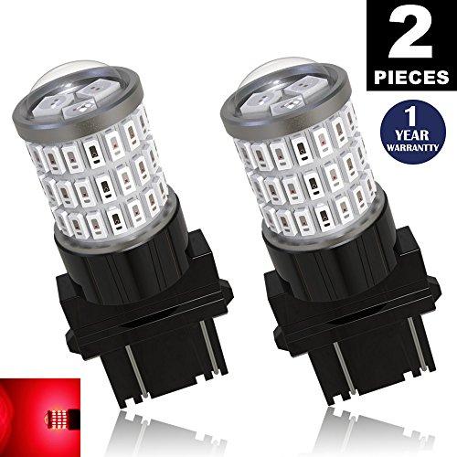 LUYED 2 x Super Bright 9-30v 3156 3157 3057 4157 LED Bulbs Used for Brake LightsTail LightsRed
