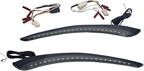 Custom Dynamics Black LED Fairing Trim with Integrated Turn Signals CD-BFT-AW-B