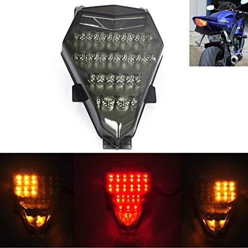 MZS Tail Light LED Integrated Turn Signal Blinker for Yamaha YZF R6 YZF-R6 RJ15 2008-2016 Smoke