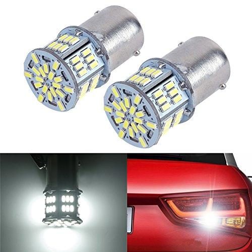 Holonyak 2x 650 Lumens 1156 1141 1003 3014 54-EX Chipsets Led Bulb Used For Back Up Reverse LightsBrake LightsTail LightsXenon White