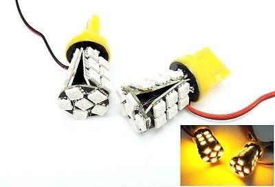 LEDIN 2x No Error 7440 Amber 24 SMD LED Tail Light Bulb 7443 7441 992 T20