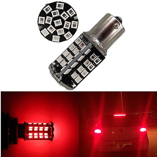 WLJH 2pcs BA15S 1156 LED Bulb P21W Canbus Error Free 2835 79SMD 12V Car Exterior Turn Signal Light Backup Light Brake Rear Tail Light Red