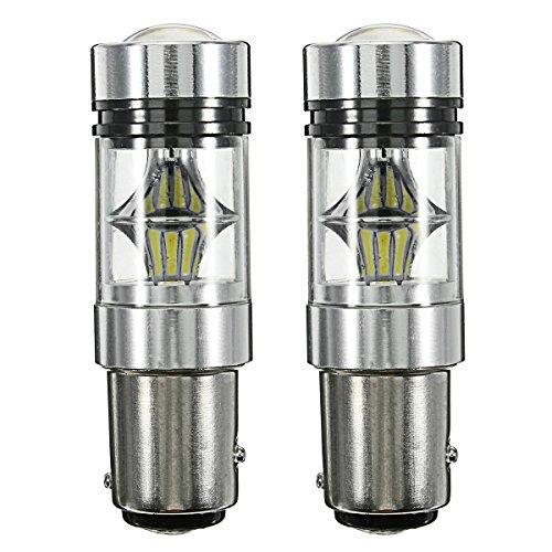 AutoLeader 100W H7 H11 LED Brake Light Bulb Car Light Fog Light 9006 1156 1157 7443 Auto Led Lamp Fog Lamp Driving Light Bulbs 1157BAY15D