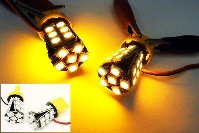 LEDIN 2x No Error 7440 Amber 24 SMD LED Brake Light Bulb 7443 7441 992 T20