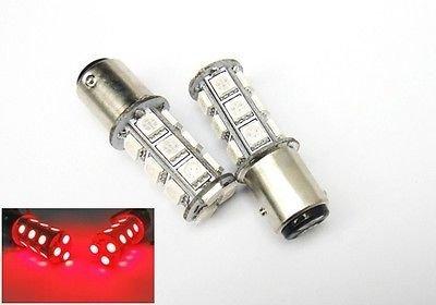 LEDIN 2x Red 1157 High Power 18 SMD LED Brake Light Bulbs BAY15d 7528 2357