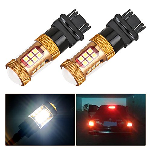 Melcan 1200LM Extremely Bright Samsung Chipsets 3157 3156 T25 LED Bulbs for Brake Tail Light White