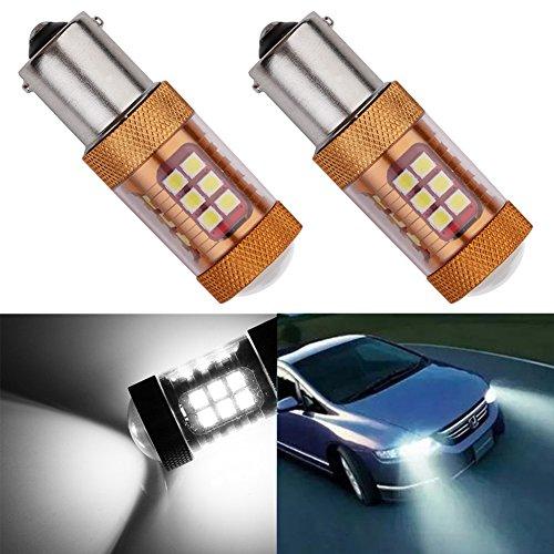 TABEN 2 X 1700 Lumens Extremely Bright White 6500K Super Bright 3030 28 SMD 1156 BA15S 7506 1141 1073 1093 LED Brake Light BulbsBack Up Reverse LightsTail Lights 12-24V