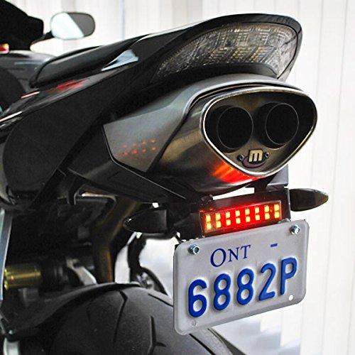 Krator Dyna Glow Integrated LED Taillight Strip Brake Light Running Light Turn Signals for License Plate Sissy Bar Rear Fender Saddlebags Hardbags Motorcycle Trunks